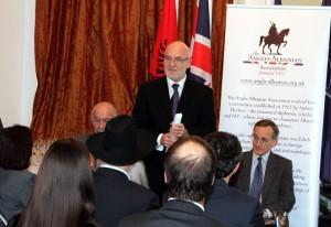"Mr Mal Berisha presenting his book ""Charles Telford Erickson, A great American who dedicated his life to Albania"""