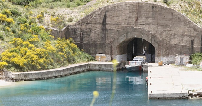 AN old submarine tunnel in Porto Palermo is seen some 235 km south of the Albanian capital Tirana. Porto Palermo, its castle and its deep blue waters are one of the country's top tourist attractions, featured on European newspaper and Internet lists of places to visit for those with a taste of adventure.—Reuters