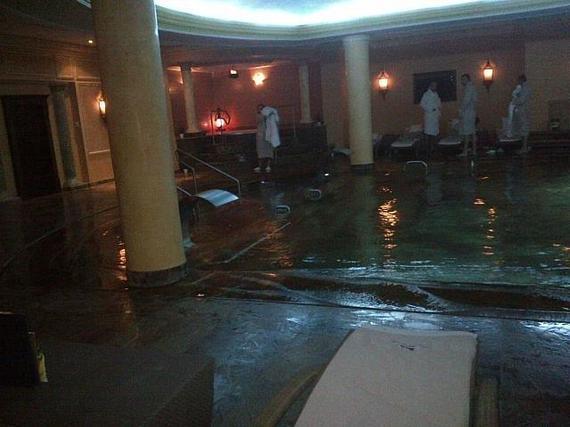 Swiss Diamond Hotel pool in Prishtina