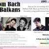 From Bach to Balkans, classical and Balkan folk music concert in London, 25 February 2015