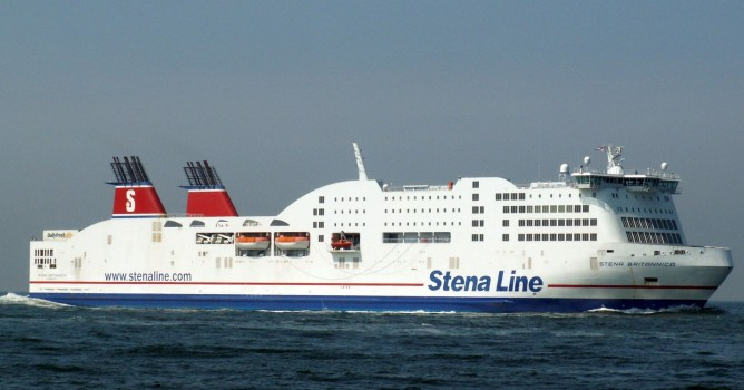 The two deportees jumped from the Stena Britannica while it was about 500m off the Suffolk coast. Photograph: Paul John Fearn /Alamy