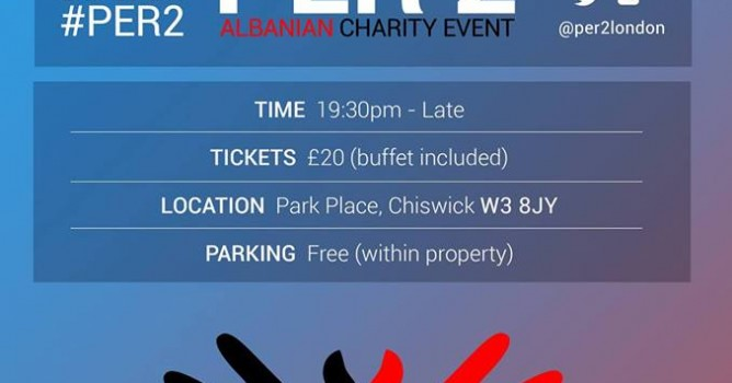 Per 2 charitable event flyer