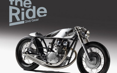 A handmade motorcycle made by two British Albanians features onto the front cover of an authoritative book